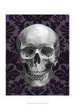 Skull on Damask Art by Ethan Harper