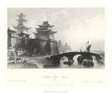 Western Gate, Peking Affiches par T. Allom