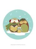 Happy Owlidays II Posters by Erica J. Vess