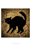 Cat & Damask Posters by  Vision Studio