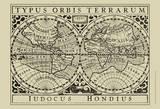 Vintage Map on Khaki I Plakater av Vision Studio