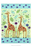 Giraffe Pair Prints by Kim Conway