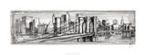 Pen & Ink Cityscape II Limited Edition by Ethan Harper