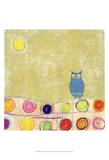 Feathers, Dots & Stripes III Print by Ingrid Blixt