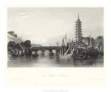 The Bridge of Nanking Giclee Print by T. Allom