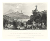 Temple, at Lake Lee-Hoo Posters par T. Allom