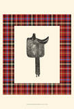Saddle and Plaid III Art by Vision Studio