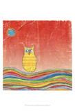 Feathers, Dots & Stripes VI Prints by Ingrid Blixt