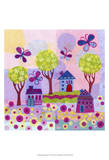 Springtime Houses Posters by Kim Conway