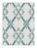 Ornamental Pattern in Teal II Giclee Print