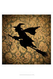 Witch & Damask Print by Vision Studio