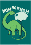 Nom Nom Nom Poster by Snorg Tees 