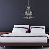 Flowing Chandelier Wall Decal