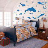 Shark Infested Wall Decal