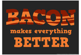 Bacon Makes Everything Better Stampe di  Snorg Tees