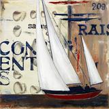 Blue Sailing Race II Poster av Patricia Quintero-Pinto