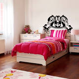 Baroque Headboard (Twin) Wall Decal
