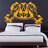 Baroque Headboard (Double) Wall Decal
