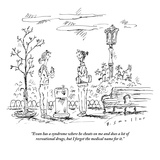 """Evan has a syndrome where he cheats on me and does a lot of recreational …"" - New Yorker Cartoon Premium Giclee Print by Barbara Smaller"