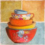 Collage Bowls I Posters par Patricia Quintero-Pinto
