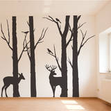 Deer in the Forest Wall Decal