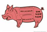 Tasty Pig Posters af Snorg Tees