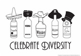 Celebrate Diversity Prints by  Snorg Tees