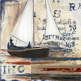 Blue Sailing Race I Prints by Patricia Quintero-Pinto