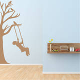 Half Tree & Swinging Boy Wall Decal