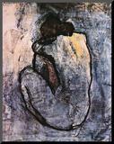 Blå nakenmodell, ca 1902 Monterat tryck av Pablo Picasso
