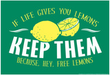 Free Lemons Prints by  Snorg Tees