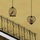 Birds &amp; Cages (x2) Wall Decal
