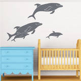 Friendly Pod of Dolphins Wall Decal