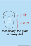Glass is Always Full Poster di  Snorg Tees