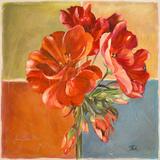 Red Geraniums II Prints by Patricia Pinto