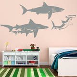 Shark Family Wall Decal