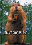 Beaver Shot Tin Sign