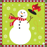 Snowman I Posters by Donna Slade
