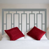 Modern Headboard (Double Bed) Wall Decal