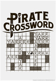 Pirate Crossword Poster by  Snorg Tees