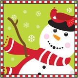 Snowman II Art by Donna Slade