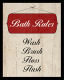 Bath Rules I Print