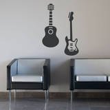 Guitar Duo Wall Decal