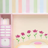 Happy Flowers (x6) Wall Decal