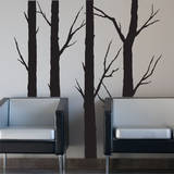 Forest Trees (x4) Wall Decal