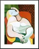 Pablo Picasso - The Dream Reprodukce aplikovaná na dřevěnou desku