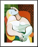 The Dream Mounted Print by Pablo Picasso