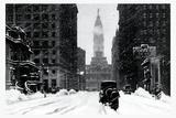 Snow at City Hall, Philadelphia, Pennsylvania Kunst