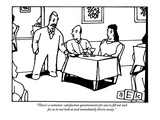 """There's a customer-satisfaction questionnaire for you to fill out and for…"" - New Yorker Cartoon Premium Giclee Print by Bruce Eric Kaplan"