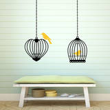 Birds & Cages (x2) Wall Decal